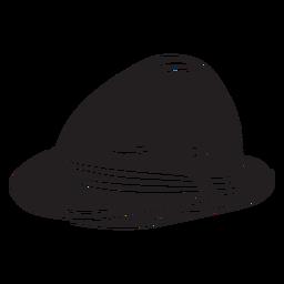 Sombrero tradicional cultura suizo negro
