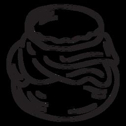 Curso de recipiente de pote de mel tradicional