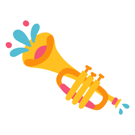 Ilustração de instrumento musical de trompete mariachi Transparent PNG