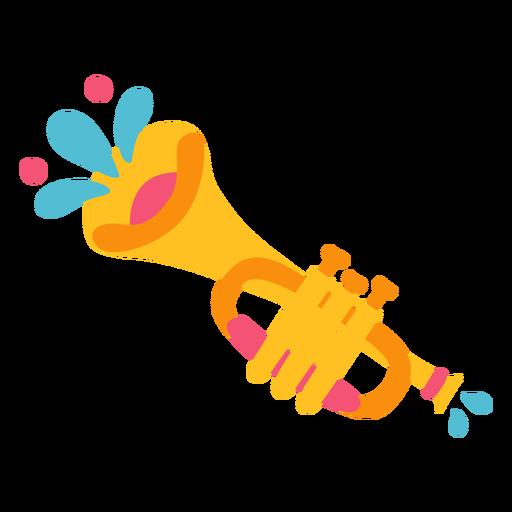 Ilustración de instrumento musical trompeta mariachi Transparent PNG