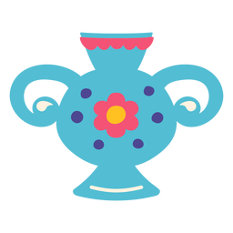 Florero contenedor asas ilustración