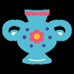 Ilustración de manijas de contenedor de florero