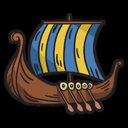 Ilustración de barco de barco vikingo