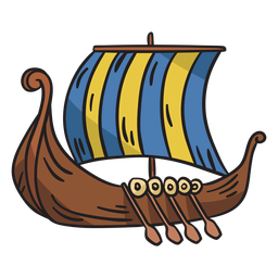 Viking ship boat illustration