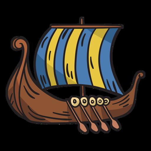 Ilustración de barco de barco vikingo Transparent PNG