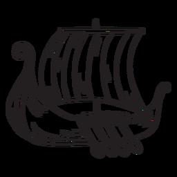 Barco de agua trazo de barco vikingo