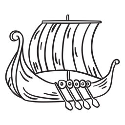 Water vessel viking ship stroke
