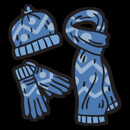 Equipo de invierno nieve finlandia ilustración