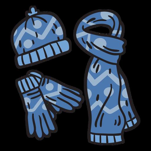 Winter gear snow finland illustration