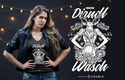 Design engraçado bávaro do t-shirt das citações