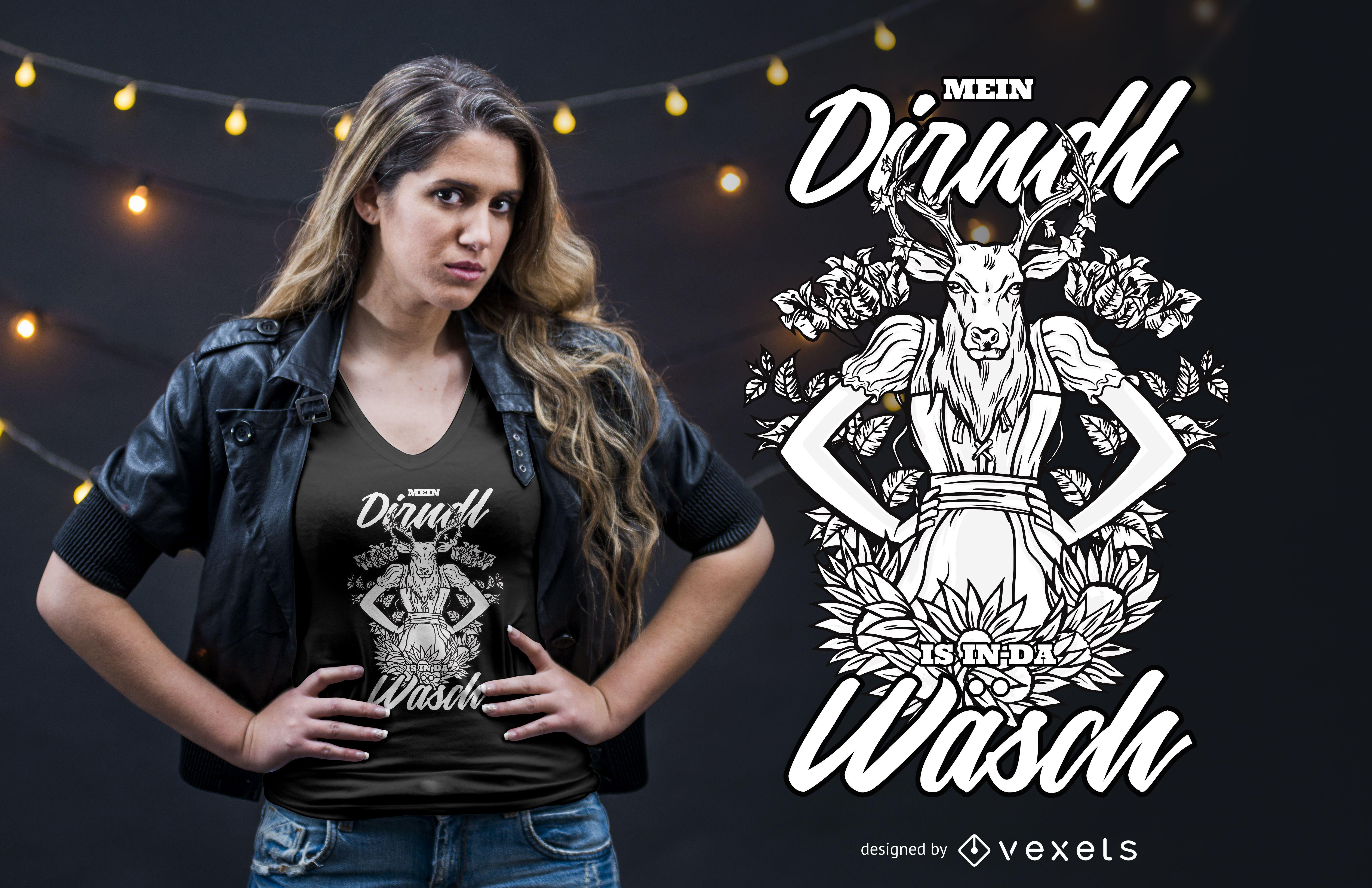 Bayerisches lustiges Zitat-T-Shirt Design