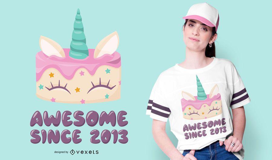 Unicorn Cake T-shirt Design