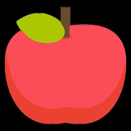 Apple fruit flat apple Transparent PNG