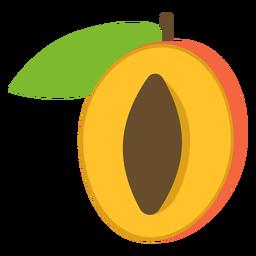 Apricot fruit flat