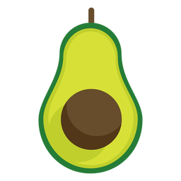 Avacado fruit flat