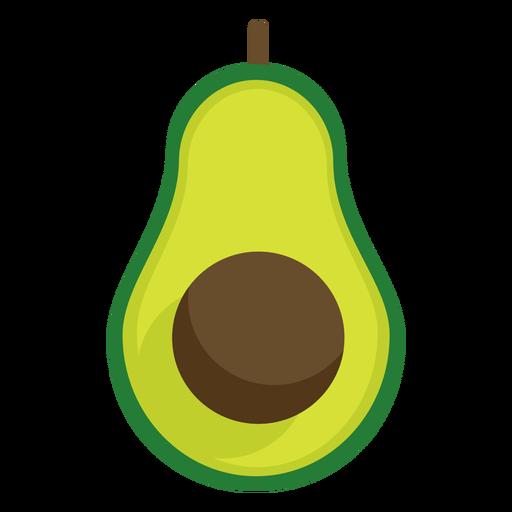 Avacado fruit flat Transparent PNG