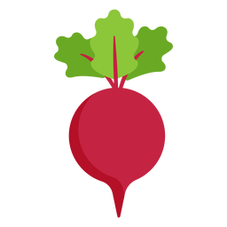 Remolacha vegetal plana