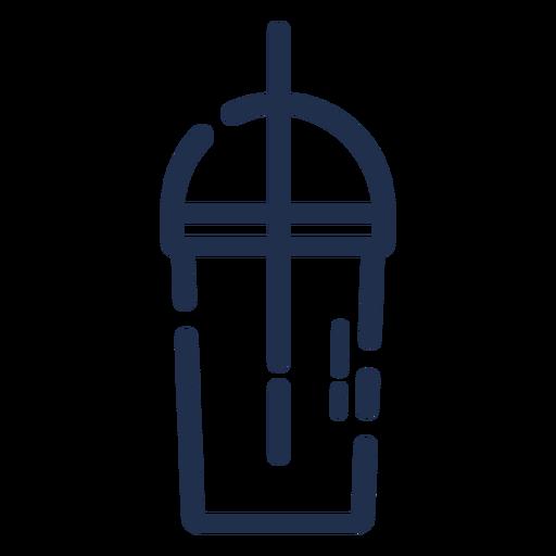 Trazo de la tapa del vaso de bebidas