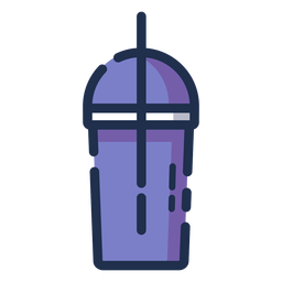 Beverage tumbler purple icon