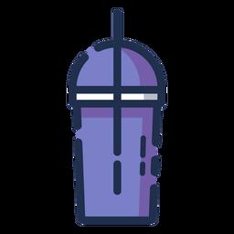 Vaso de bebidas icono morado