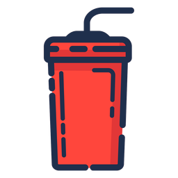 Ícone vermelho do copo de bebida
