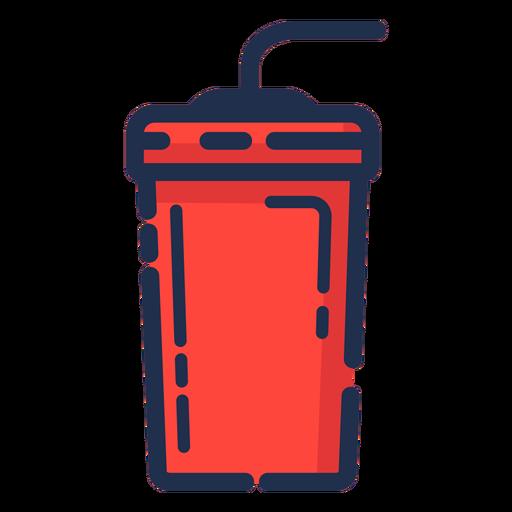 Vaso de bebidas icono rojo