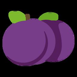 Fruta de mora plana