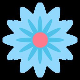 Blaue Blume flach