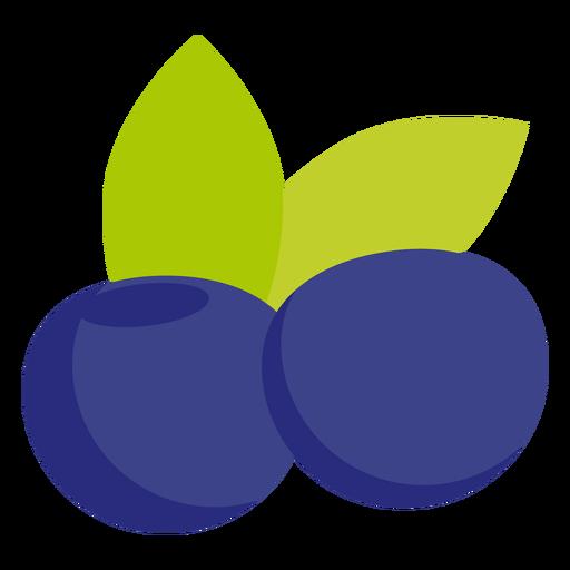 Blueberry fruit flat Transparent PNG