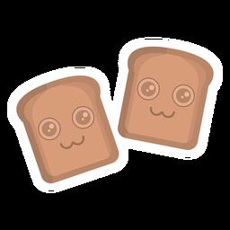 Etiqueta de pan plana