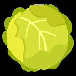 Repollo vegetal plano