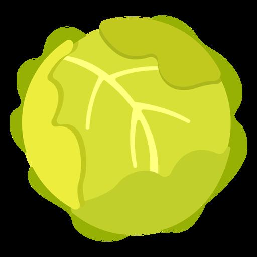 Cabbage vegetable flat Transparent PNG