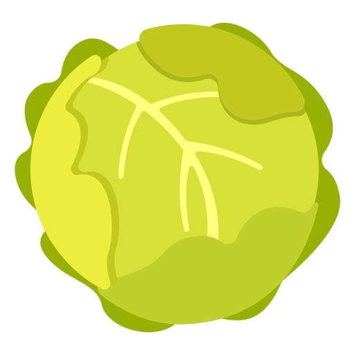 Repollo vegetal plano Transparent PNG