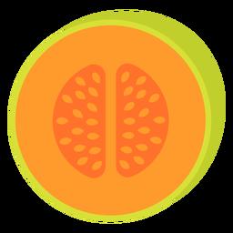 Cantaloupe Frucht flach