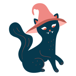Personagem de bruxa de gato