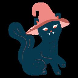 Personaje de bruja gato