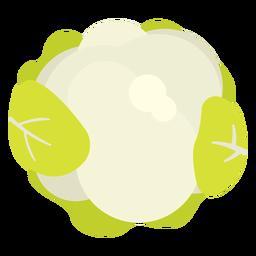 Coliflor vegetal plana