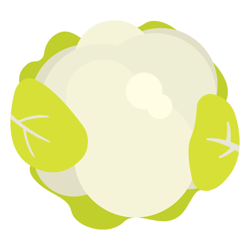 Cauliflower vegetable flat Transparent PNG