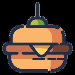 Icono de hamburguesa con queso