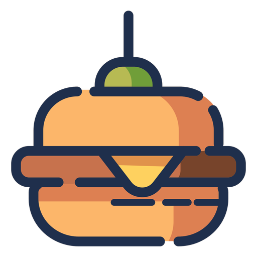 Icono de hamburguesa con queso Transparent PNG