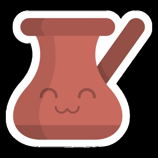 Chocolate pot sticker flat Transparent PNG