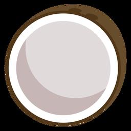Kokosnussfrucht flach