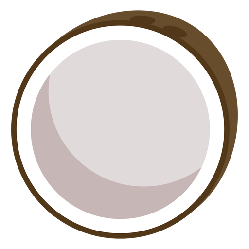 Cocoanut fruit flat Transparent PNG
