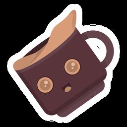 Coffee cup cute sticker flat