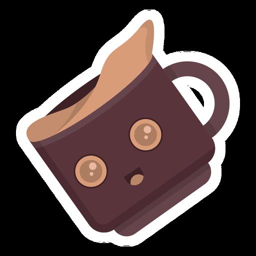 Coffee cup cute sticker flat Transparent PNG