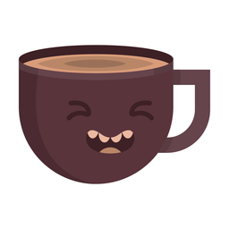 Coffee cup woozy sticker flat