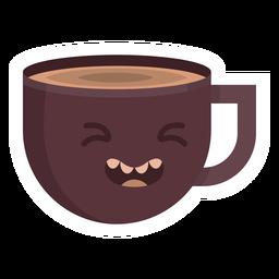 Coffee cup woozy sticker flat