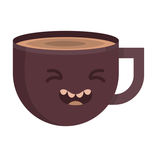 Taza de café woozy pegatina plana Transparent PNG