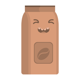 Coffee flask sticker flat