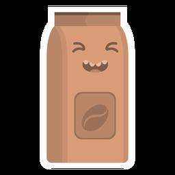 Pegatina matraz café plana